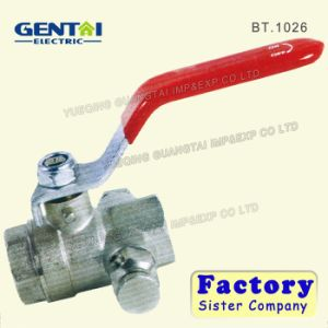 Brass Ball Valve with Brass/Steel Handle pictures & photos