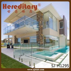 Safety Frameless Glass Balcony Railing with Stainless Steel Spigots (SJ-H927) pictures & photos