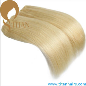 Top Grade Body Wave Light Blonde 613# Human Hair Weft pictures & photos