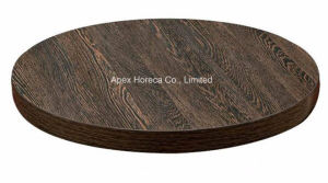 Wood Round Table Top Melamine Restaurant Table Top pictures & photos