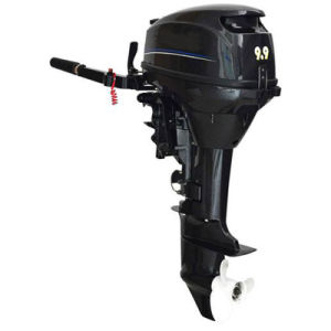 2 Stroke 9.8HP Gasoline Long Shaft Motor pictures & photos