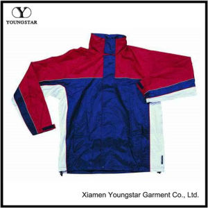 Ys-1016 Polyester PVC Lined Waterproof Rain Jacket with Hood pictures & photos