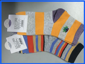 Women′s Stripe Breathable Soft Cotton Casual Socks pictures & photos