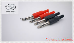 6.35mm/6.35 (1/4 inch) Mono/Stereo Pug W/Cable Protector for AV/Audio Cable pictures & photos