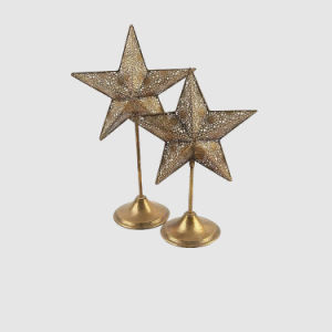 Star Shaped Metal Candle Holder pictures & photos