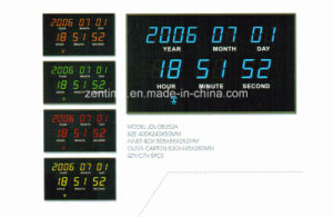 Radio Control Function LED Digital Wall Calendar Clock for Elderly pictures & photos