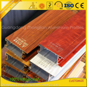 Custom Aluminium Extrusion Windows Profiles with Wood Colors pictures & photos