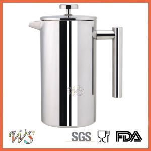 Wschsy014 Double Wall Stainless Steel French Press High Quality Coffee Maker pictures & photos
