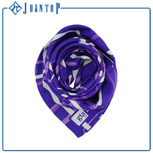 Unique Floral Smoothness Triangle 100% Silk Lady Scarf pictures & photos