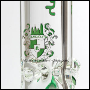 Hfy Glass 12 Inches Illadelph Smoking Water Pipes Beaker Base 9mm Waterpipes Clear Thick Heady Hookah Weed Pipe pictures & photos