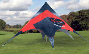 Aluminum Red Bull Star Shade Tent for Outdoor Advertising pictures & photos