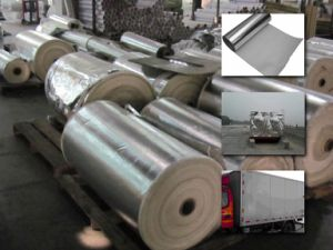 Aluminum Foil Fiberglass Cloth / Glass Fibre Fabric pictures & photos