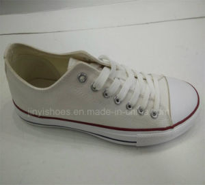 New Vulcanized Rubber Outsole White Canvas Shoes pictures & photos