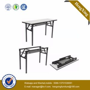 High Quality Metal Double Folding Desk School Furniture (HX-FD343) pictures & photos