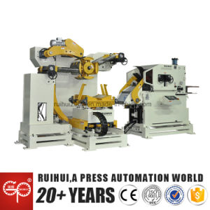 Coil Sheet Automatic Straightener Decoiler Feeder Machine and Press Feeding Line. pictures & photos