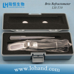 Wholesale Hand Held Metal Material with Atc Brix Refractometer (LH-T10) pictures & photos