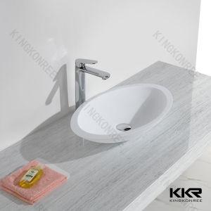 Kingkonree New Design Solid Surface Hotel Vanity Bathroom Sink pictures & photos