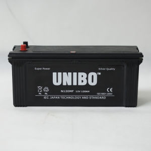 Car Battery  N120 12V120ah Mf  JIS Standard Maintenance Free  High Performance pictures & photos