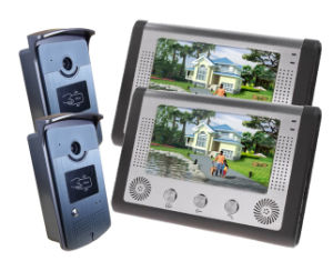 4 Wire Hand Free Intercom Video Door Phone with ID Card pictures & photos