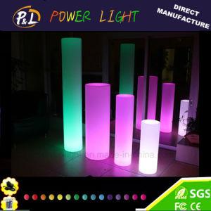 Garden Decoration Cordless Plastic Illuminated LED Solar Cylinder pictures & photos