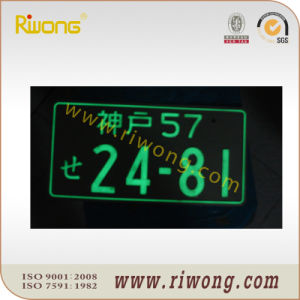 Aluminum License Plates with Glow in The Dark pictures & photos