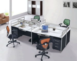 Modern Office Staff Table Wooden Office Workstation pictures & photos