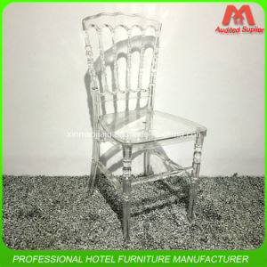 Hot Sale Crystal Hotel Banquet Wedding Resin Napoleon Chair