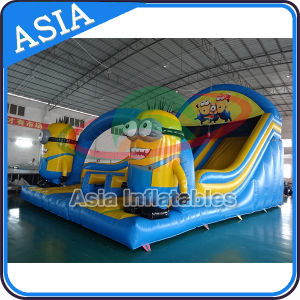 Lovely Minion Double Sildes Cheap Inflatable Water Slide for Children pictures & photos