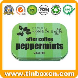 Rectangular Hinged Tin Box, Gum Tin Can, Metal Mint Container pictures & photos