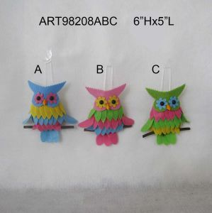 Blue Pink Green Owl Garden Ornament Decoration Easter pictures & photos