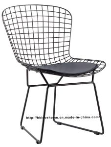 Replica Modern Dining Restaurant Knock Down Black Wire Chair pictures & photos