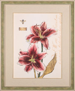 Wall Decoration Art Flower Oil Painting in Wood Frame pictures & photos