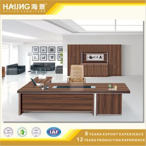 Modern Executive Desk with Aluminum Frame Wooden Desk
