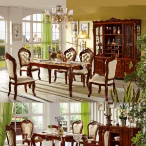 Wood Dining Furniture with Dining Table and Dining Sofa Chair pictures & photos