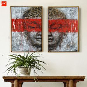 Gentle Buddha Wall Art Handmade Oil Painting Set pictures & photos