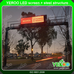 Highway LED Screen Steel Structure Gantry Billboard pictures & photos