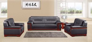 Italy Design Classic Wooden Office Furniture Leather Office Sofa (NS-E075) pictures & photos