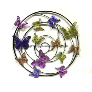 New Arriving Colorful Metal Butterfly Wall Art Garden Decoration