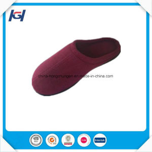 Wholesale New Design Corduroy Side Stitching Mens Memory Foam Slipper pictures & photos