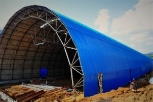 Long Span Steel Space Frame Used for Coal Shed Fired Power Plant pictures & photos