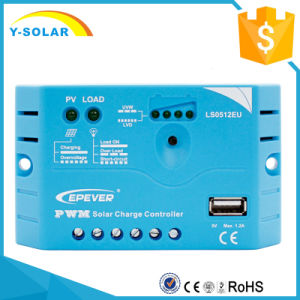 Epever 5A 10A 12V USB-5V/1.2A Solar Charge Controller Ls0512EU pictures & photos