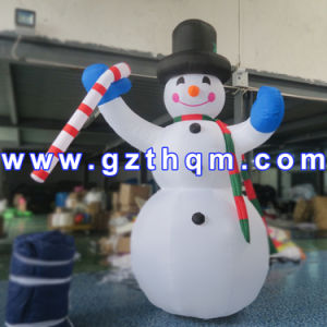 Big Outdoor Inflatable Snowman/Cute Inflatable Snowman with LED Light pictures & photos