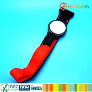 Access Control Adjustable Costly Velcro RFID Wristband Tag pictures & photos