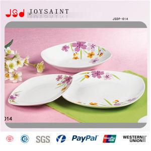 Simple Flower Design Square Dinner Set in Porcelain