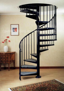 Home Bespoke Spiral Staircase Antislip PVC Tread / Spiral Stairs Kits pictures & photos