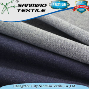 Wholesale Cotton and Spandex Baby Terry Indigo Knitted Denim Fabric for Garments pictures & photos