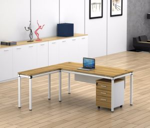 White Customized Metal Steel Office Executive Table Frame Ht81-2 pictures & photos