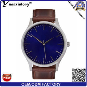 Yxl-027 High Quality 2016 Miyota Movement Watch Men Leather Fashion Simple Watch pictures & photos