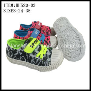 Children Injection Canvas Shoes Casual Shoes Customized (HH520-03) pictures & photos