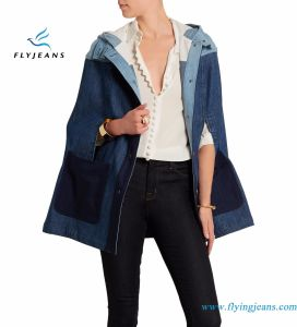 Stretch Denim Hooded Ladies Jacket Made by Fly Jeans Garement pictures & photos